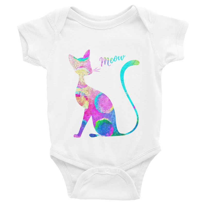 Watercolor Cat Infant Bodysuit - Zuzi's