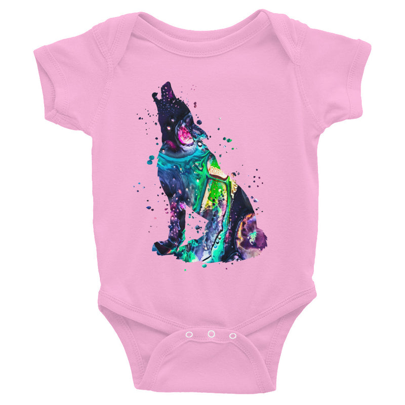 Watercolor Wolf Infant Bodysuit - Zuzi's
