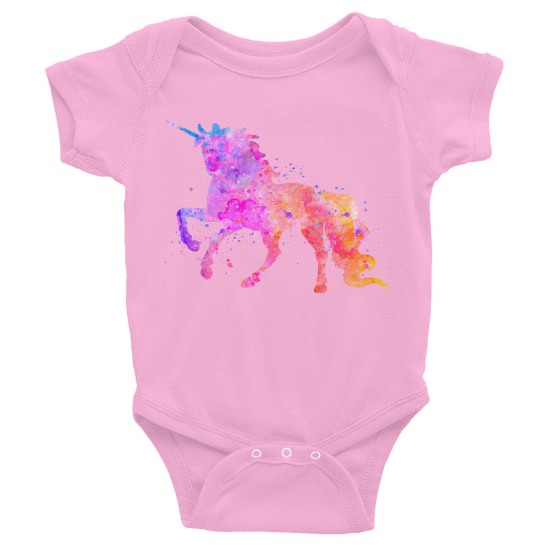 Watercolor Unicorn Infant Bodysuit - Zuzi's