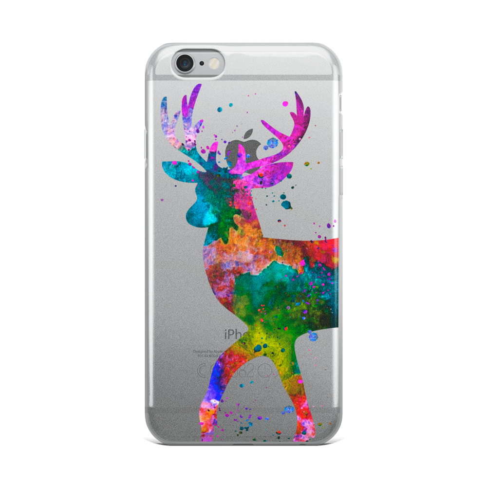 Watercolor Deer Clear iPhone Case - Zuzi's