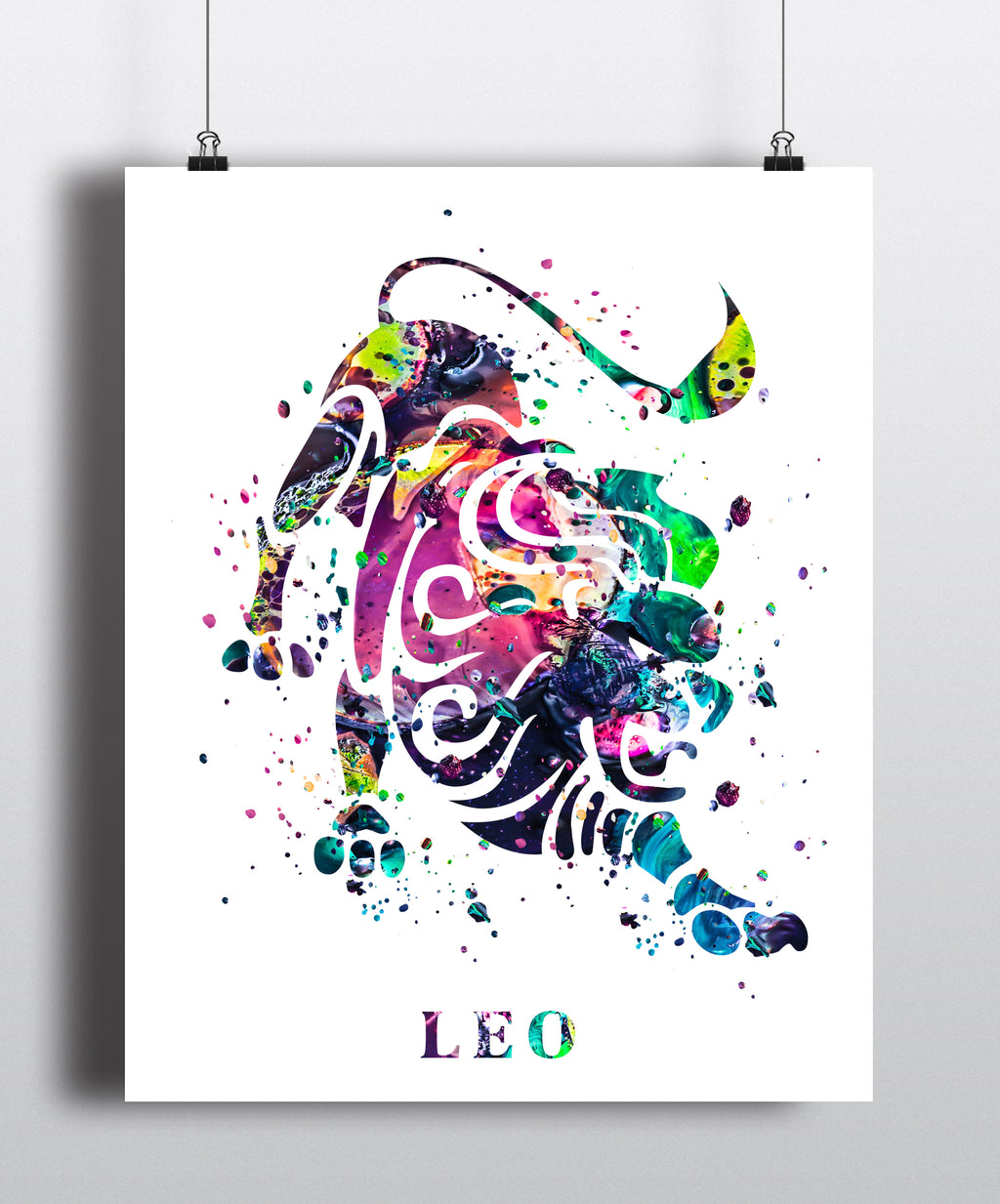 Leo Astrology Art Print - Unframed
