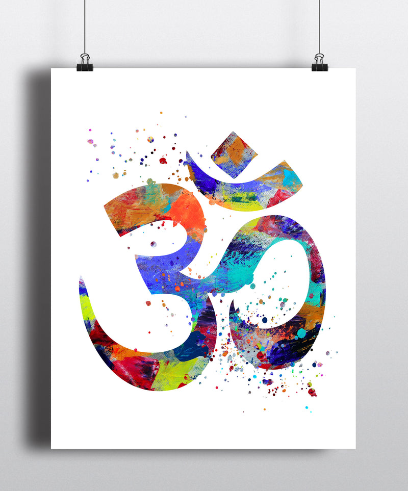 Om Symbol Watercolor Art Print - Unframed - Zuzi's