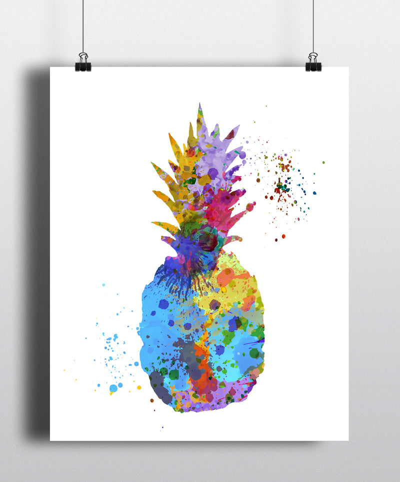 Pineapple Watercolor Art Print - Unframed - Zuzi's