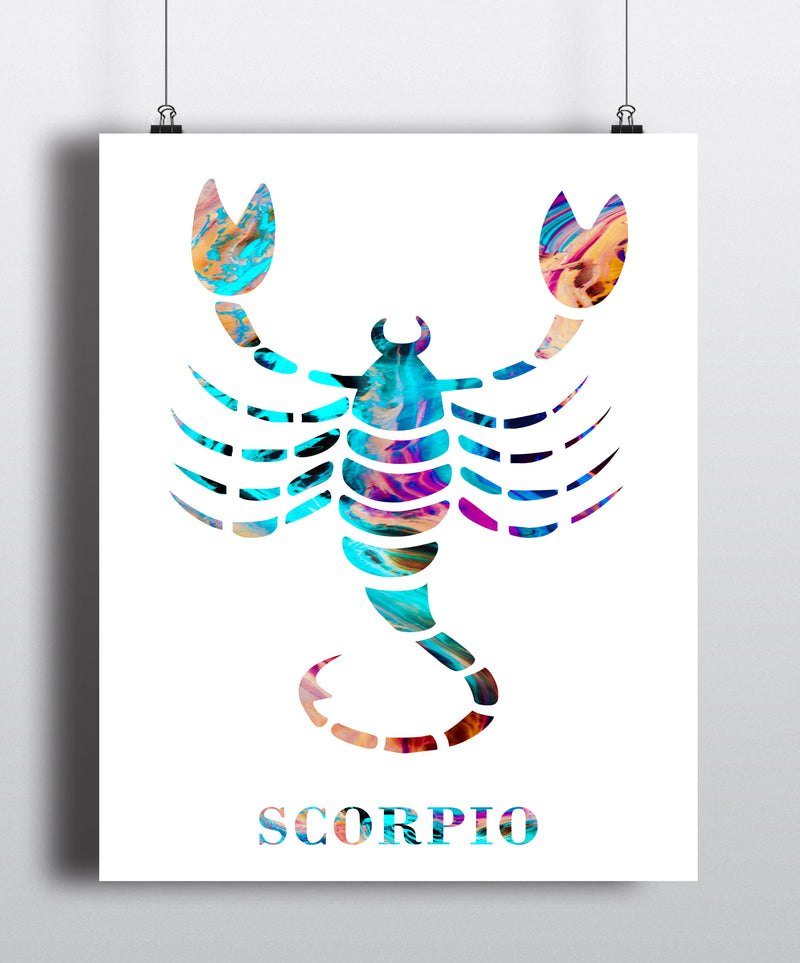 Scorpio Astrology Art Print - Unframed