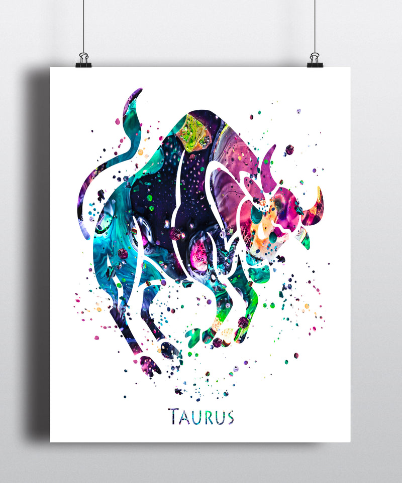 Taurus Astrology Art Print - Unframed - Zuzi's