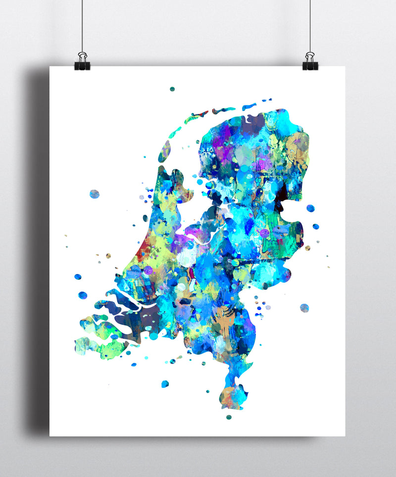 Netherlands Map Art Print -Unframed - Zuzi's