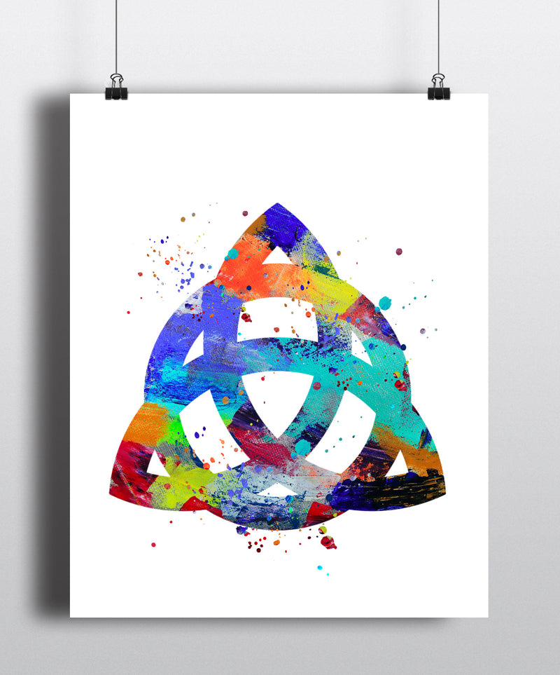 Celtic Knot Watercolor Art Print - Unframed