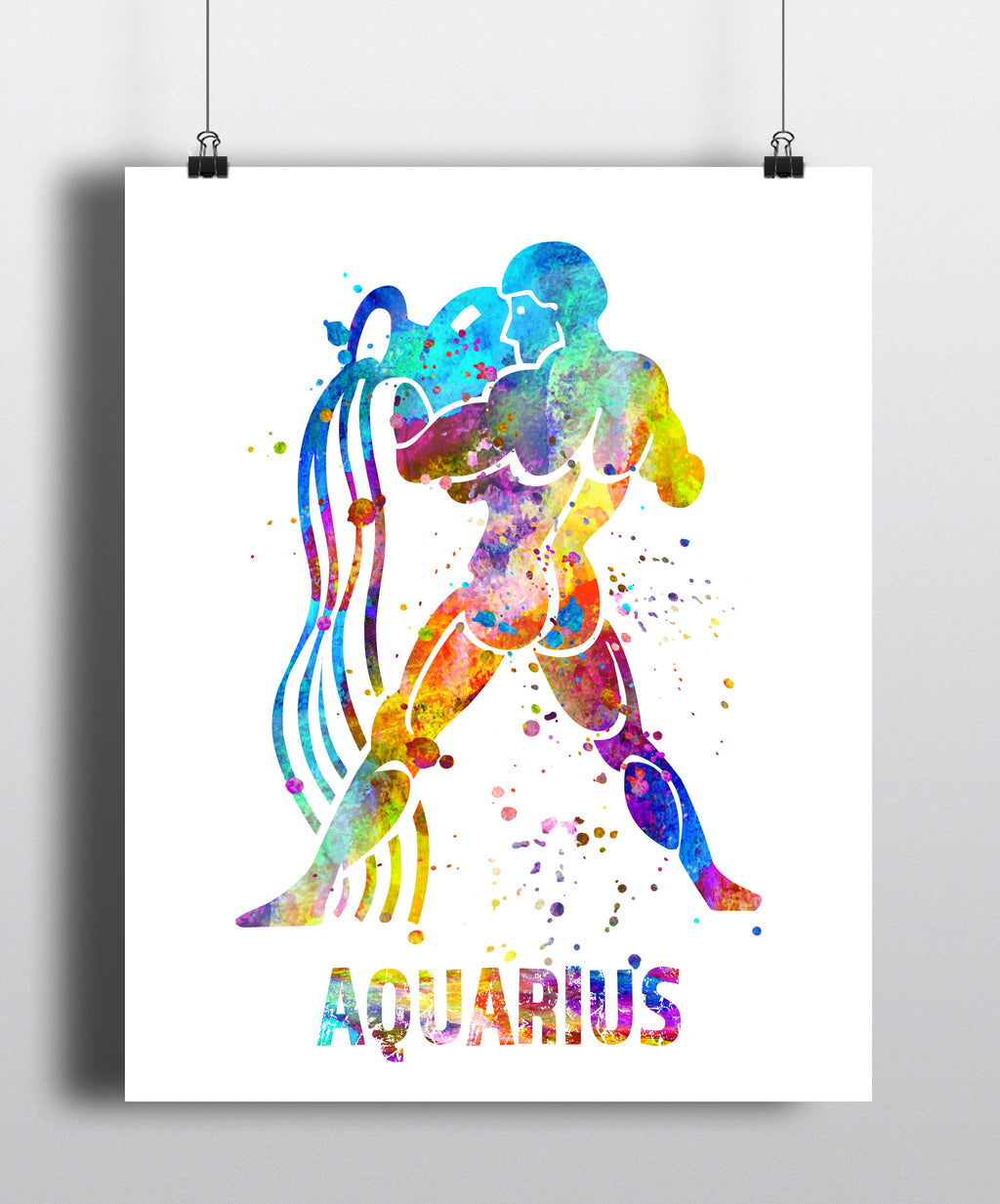 Aquarius Astrology Art Print - Unframed - Zuzi's