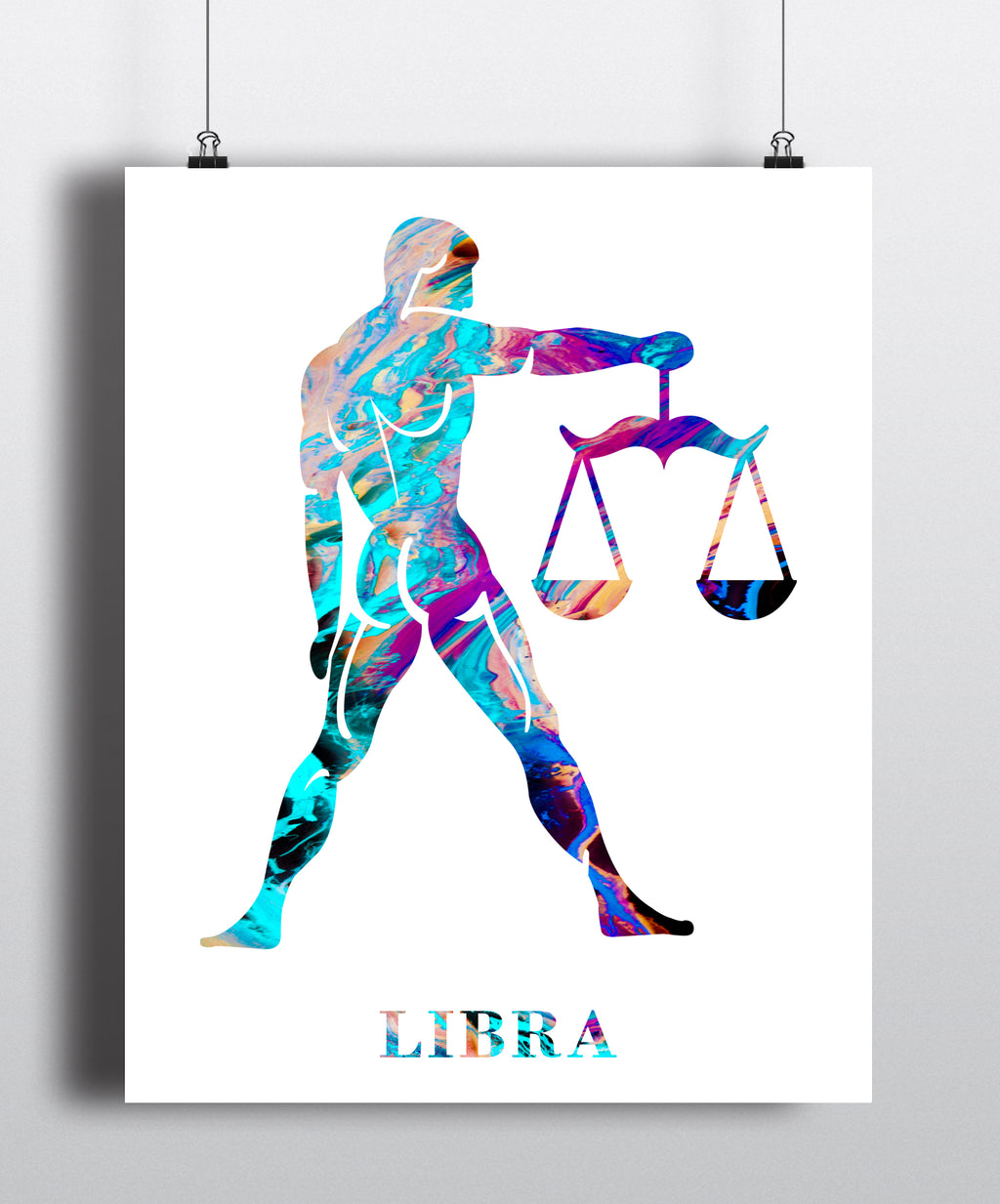 Libra Astrology Art Print - Unframed - Zuzi's
