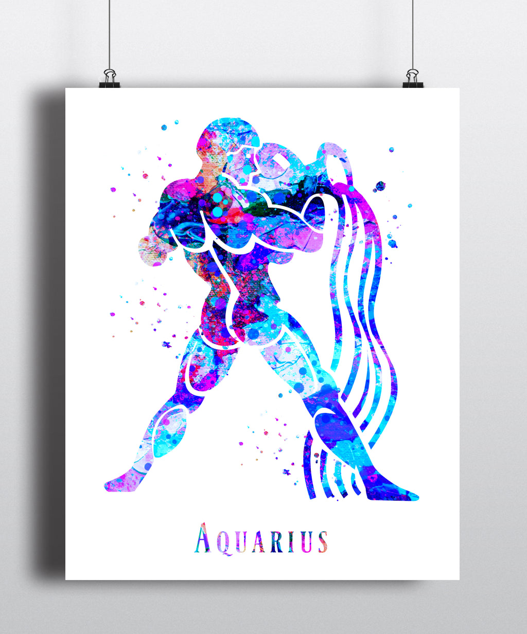 Aquarius Astrology Art Print - Unframed