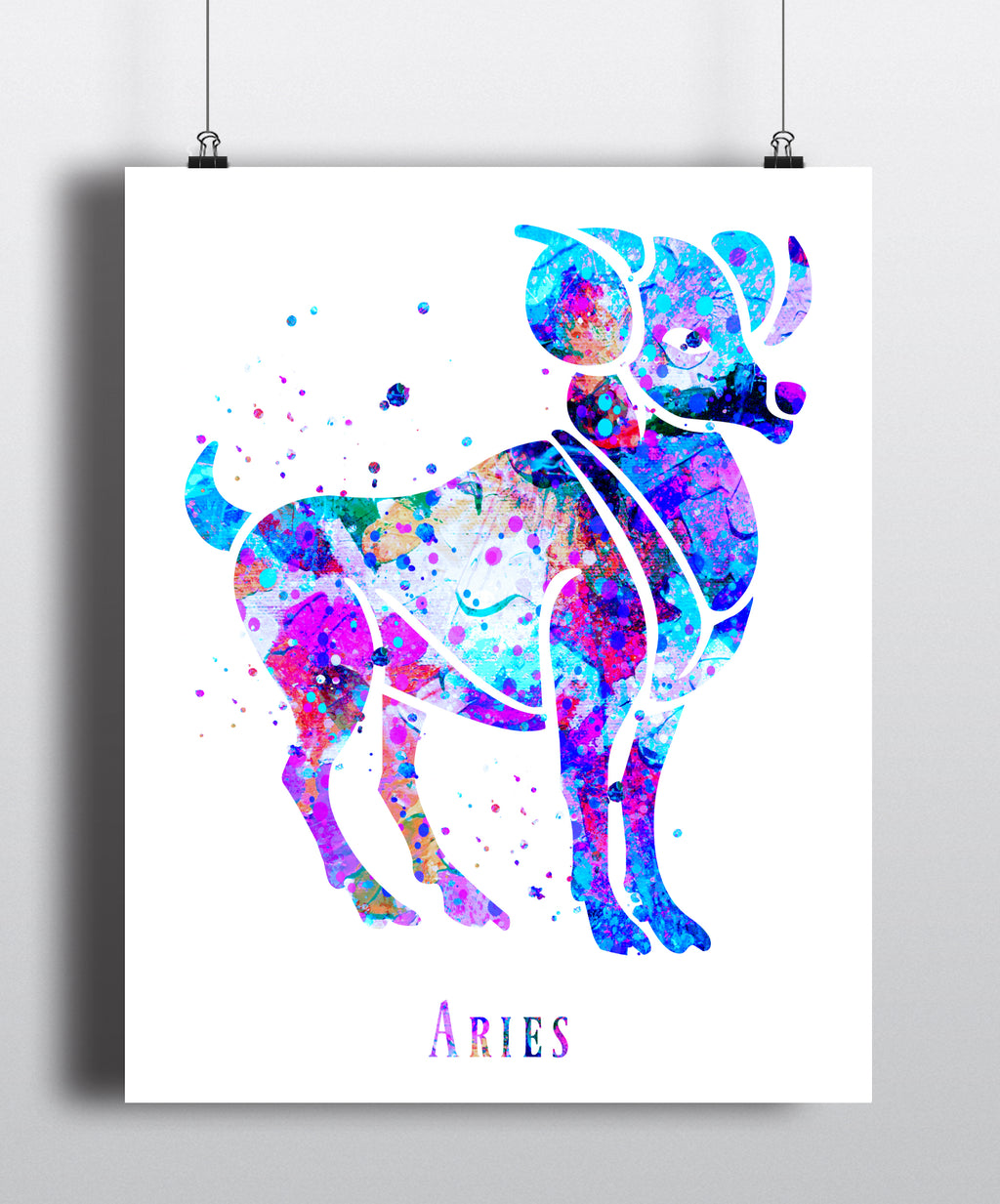 Aries Astrology Art Print - Unframed