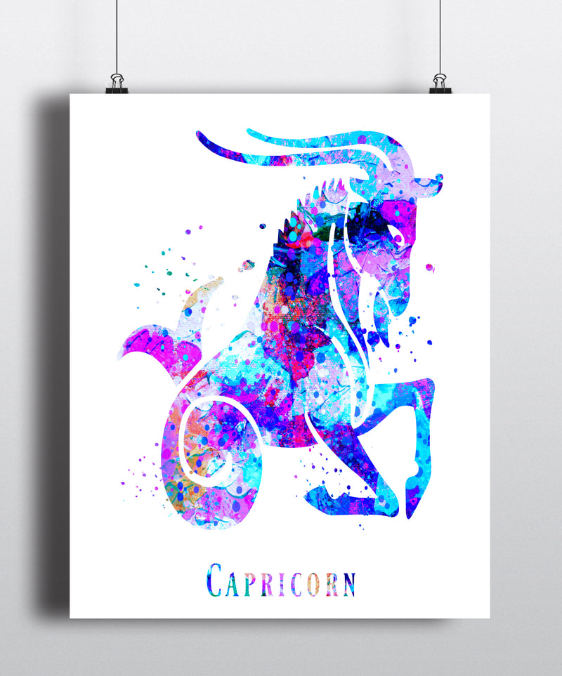 Capricorn Astrology Art Print - Unframed - Zuzi's