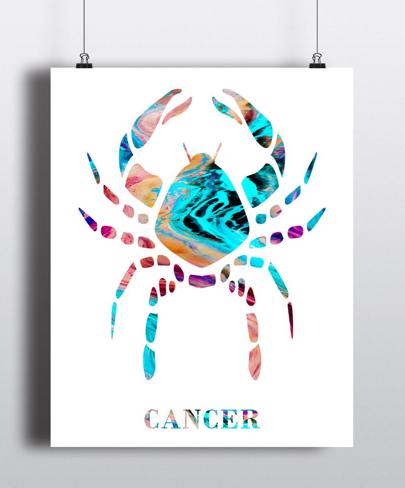 Cancer Astrology Art Print - Unframed - Zuzi's