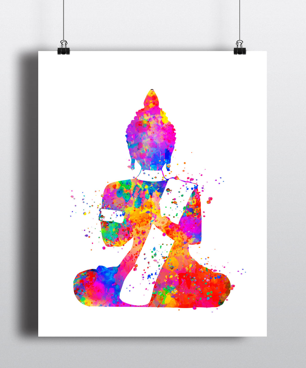 Buddha Watercolor Art Print - Unframed