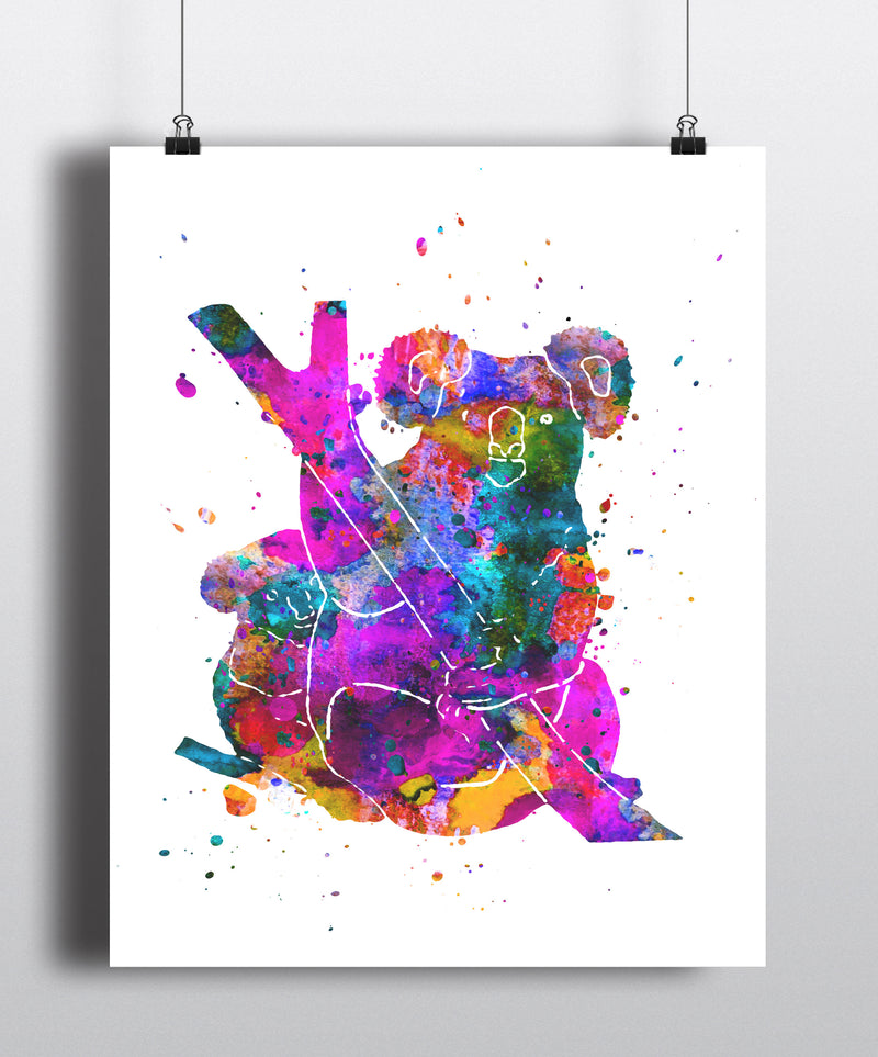 Koala Watercolor Art Print - Unframed - Zuzi's