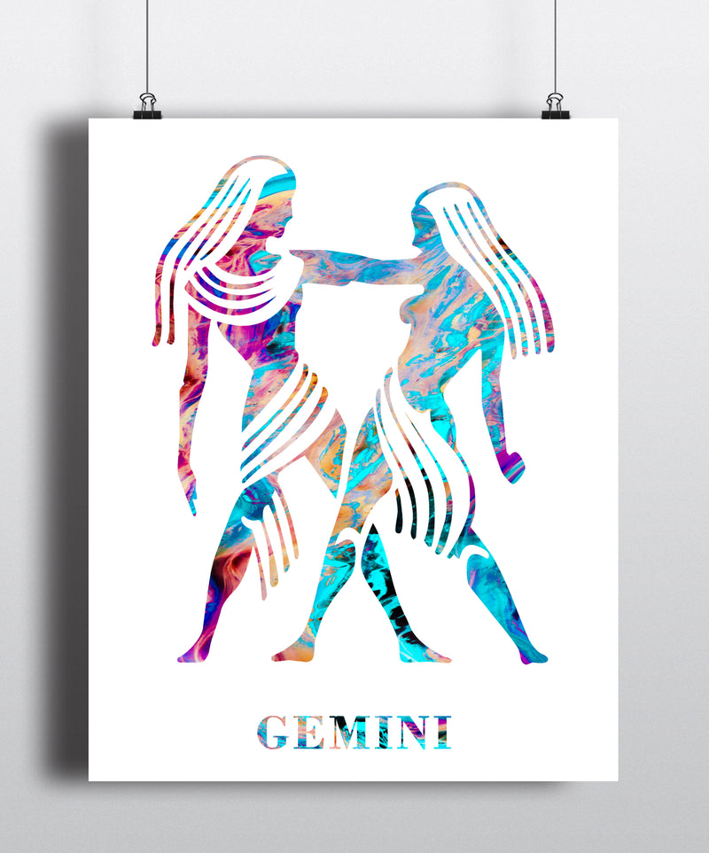 Gemini Astrology Art Print - Unframed - Zuzi's