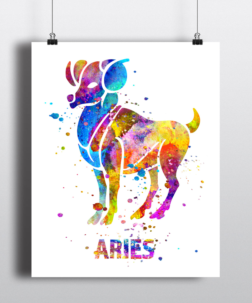 Aries Astrology Art Print - Unframed - Zuzi's