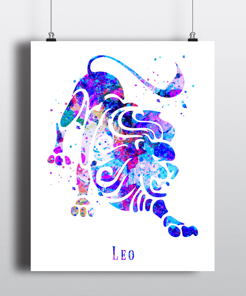Leo Astrology Art Print - Unframed - Zuzi's