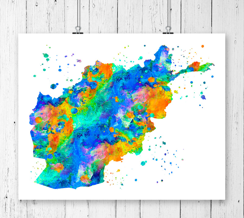 Afghanistan Map Art Print - Unframed