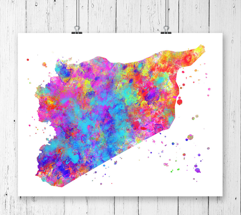 Syria Map Art Print - Unframed - Zuzi's