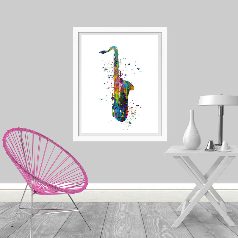 Saxophone Watercolor Art Print - Unframed - Zuzi's