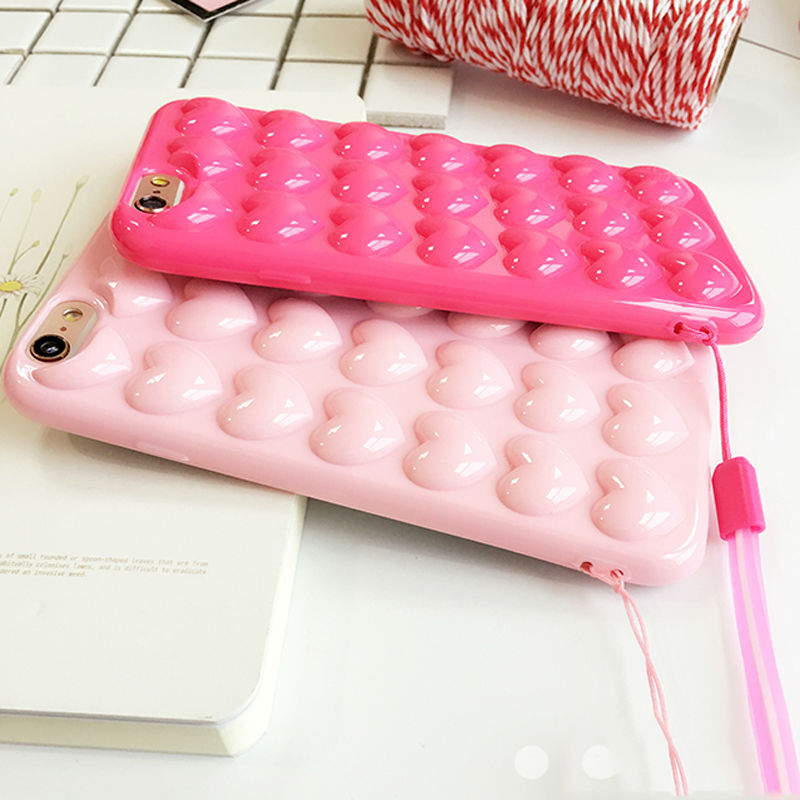 Heart Jelly Candy iPhone Case with Lanyard - Zuzi's
