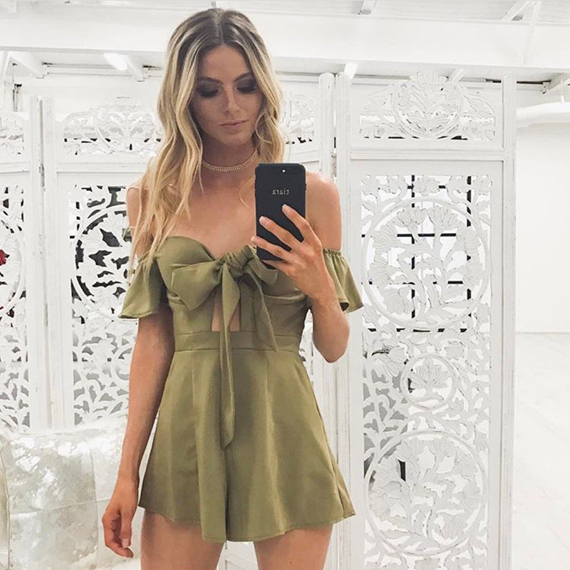 Padded Playsuit Jumpsuit Rompers