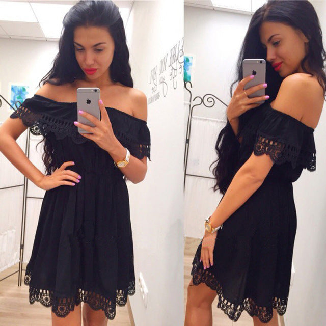 Boho Lace Dress Multiple Colors - Zuzi's