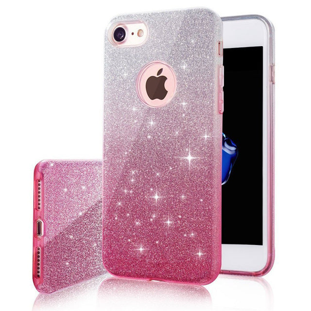 Multiple Colors Gradient Glitter  iPhone Case - Zuzi's