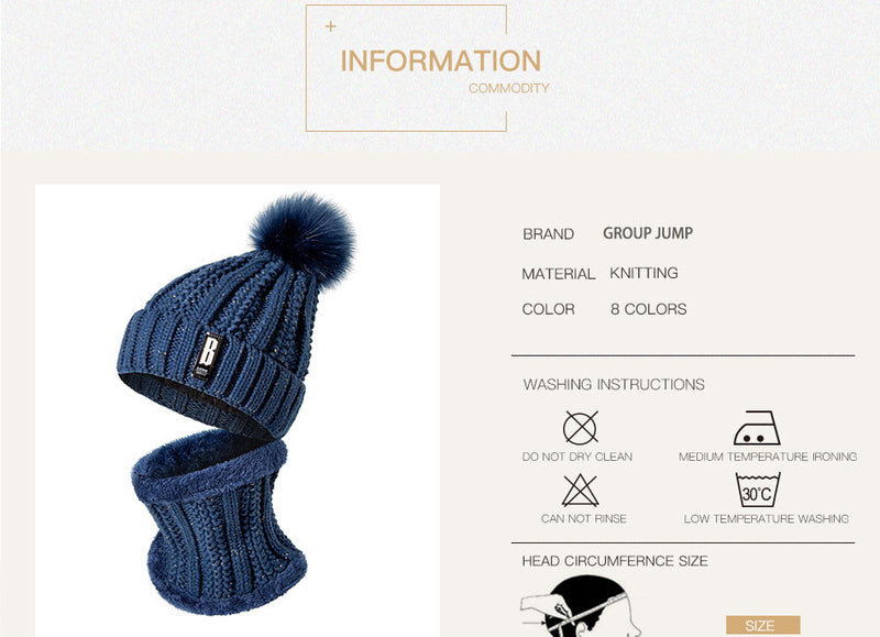 Fashion Winter Hat & Scarf Set For Women, Warm Beanie, Ring Scarf Multiple Colors - Zuzi's