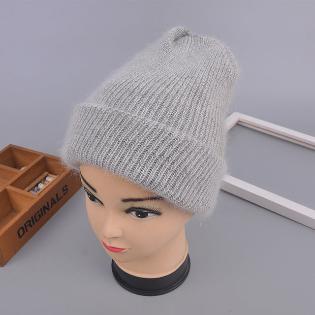 Winter Hat Beanies Rabbit Wool Fur Multiple Colors - Zuzi's