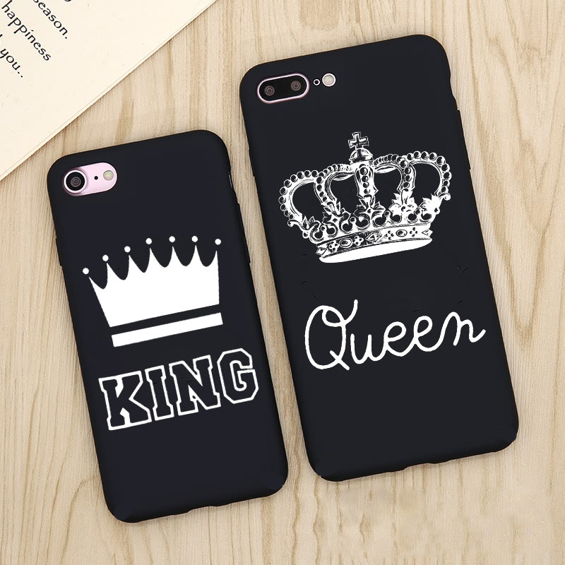 King  Queen Matte Ultra Thin Soft iPhone Case - Zuzi's