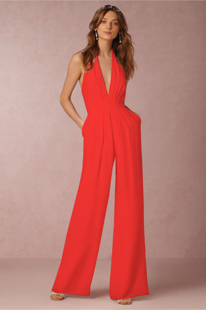Backless Jumpsuits Romper - Zuzi's
