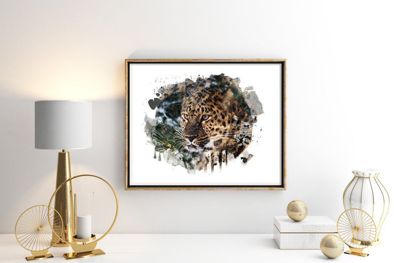 Leopard Watercolor Art Print - Unframed - Zuzi's