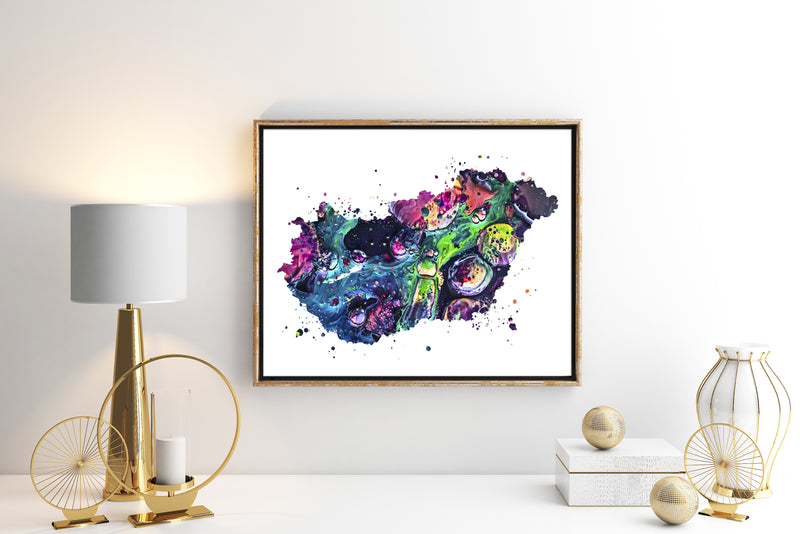 Hungary Map Art Print - Unframed - Zuzi's