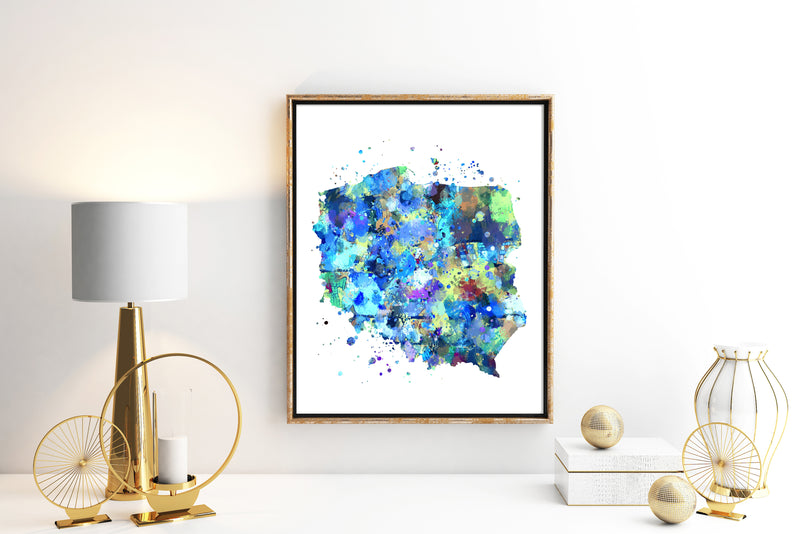Poland Map Art Print - Unframed - Zuzi's
