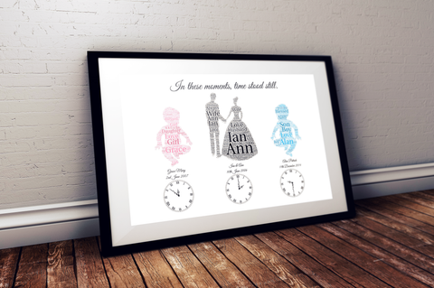 Wedding & Baby Personalized Print