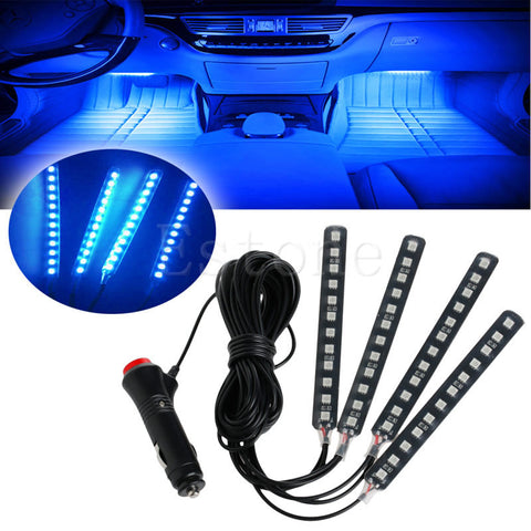 Blue LED Interior Neon Light Strips