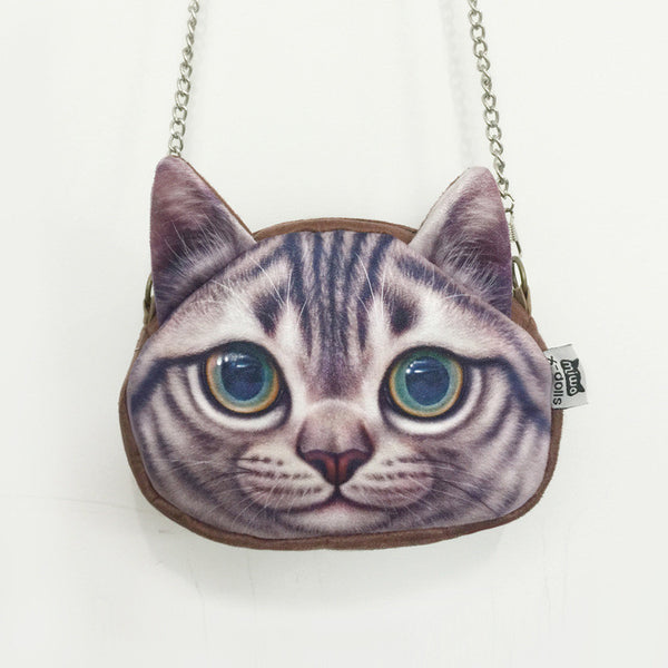 Cat Shoulder Bag with Cat Chain