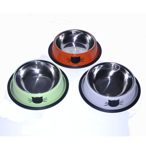 High-end Colorful Stainless Steel Cat Food Bowl