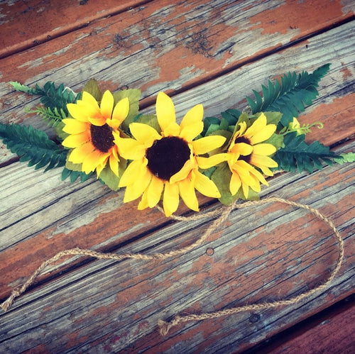 Fern+Sunflower Floral Crown