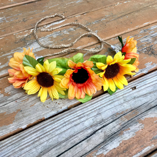 Multi Sunflower Floral Crown