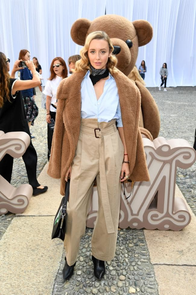 Nataly Osmann at the Max Mara ready-to-wear spring/summer 2019 show