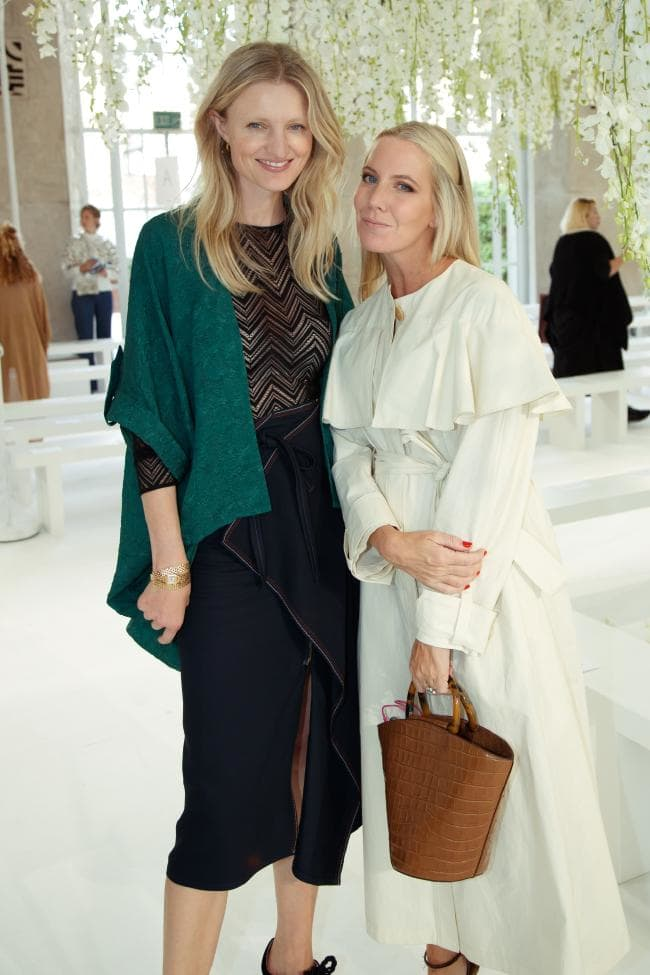 Candice Lake and Alice Naylor-Leyland at the Delpozo ready-to-wear spring/summer 2019 show