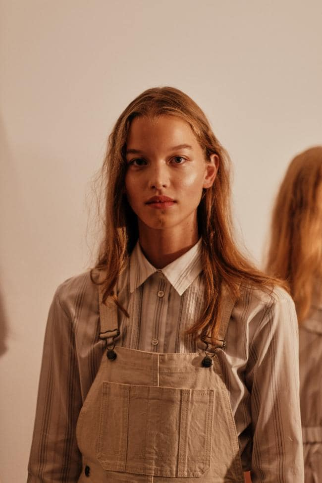 Backstage at Alexachung. Image credit: Jamie Stoker