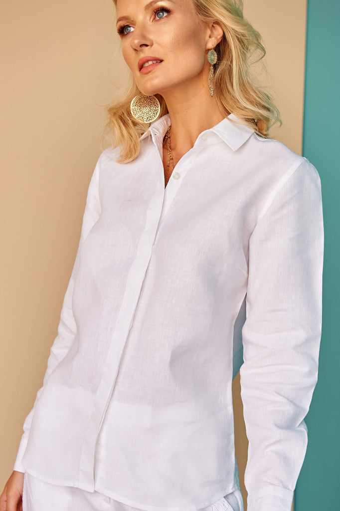 Martyna | Ladies Classic White Shirt