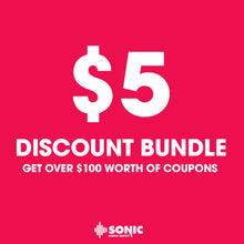 Load image into Gallery viewer, $5 DISCOUNT BUNDLE - Sonic Sound Supply - drum kits, construction kits, vst, loops and samples, free producer kits, producer sounds, make beats