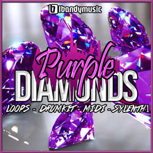 Load image into Gallery viewer, PURPLE DIAMONDS - Sonic Sound Supply - drum kits, construction kits, vst, loops and samples, free producer kits, producer sounds, make beats