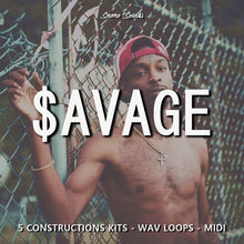 Load image into Gallery viewer, $AVAGE - Sonic Sound Supply - drum kits, construction kits, vst, loops and samples, free producer kits, producer sounds, make beats