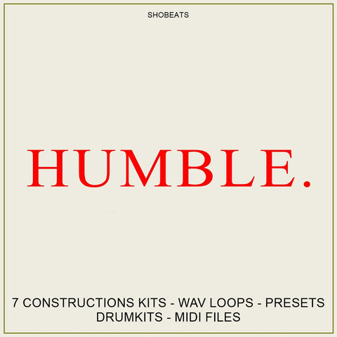 HUMBLE - Sonic Sound Supply - drum kits, construction kits, vst, loops and samples, free producer kits, producer sounds, make beats